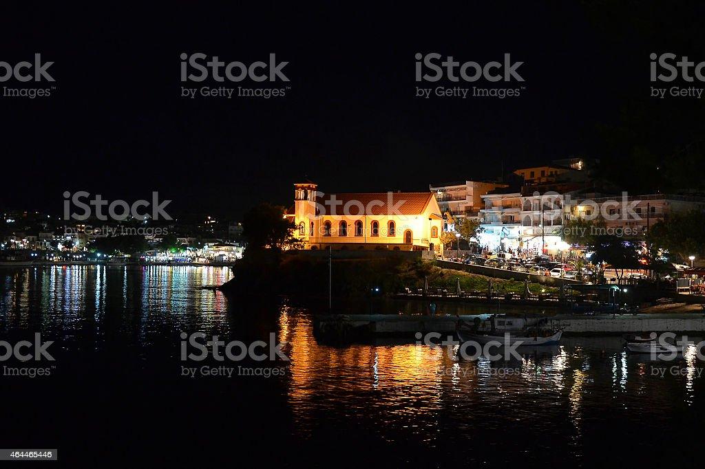 neos marmaras at night stock photo