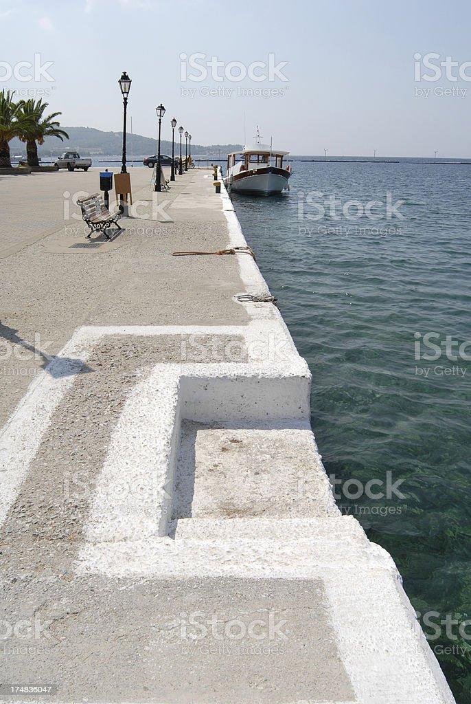 Neos Marmaras coastline royalty-free stock photo