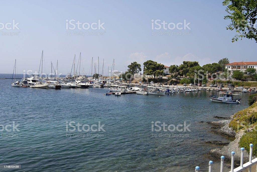 Neos Marmaras coastline stock photo