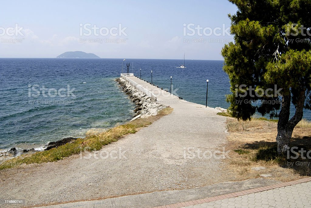 Neos Marmaras, Greece royalty-free stock photo
