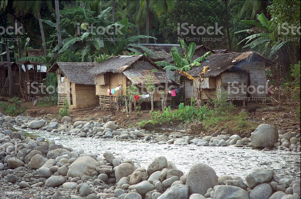 Nepa Huts - Philippines royalty-free stock photo