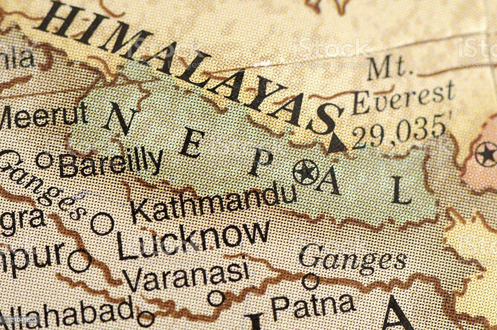 Nepal and Himalayas royalty-free stock photo