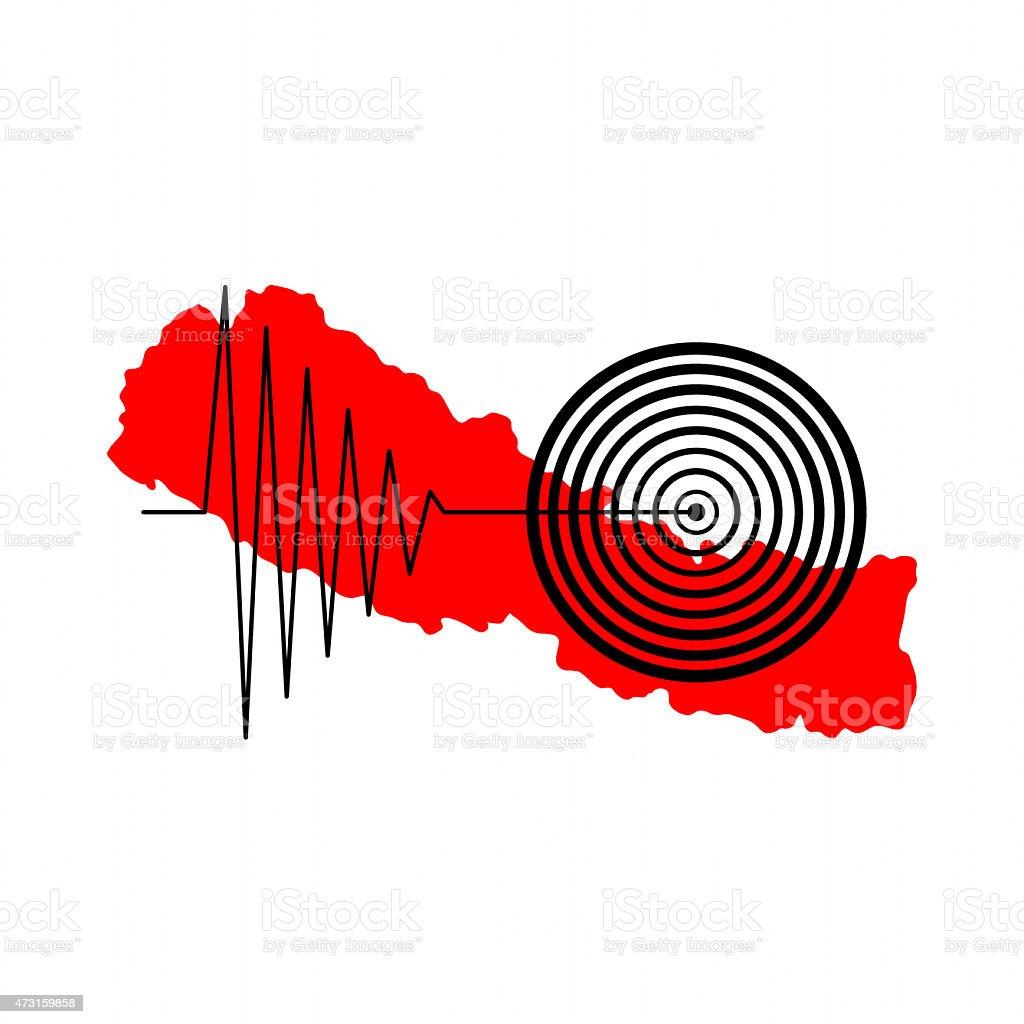 Nepal Earthquake Tremore stock photo