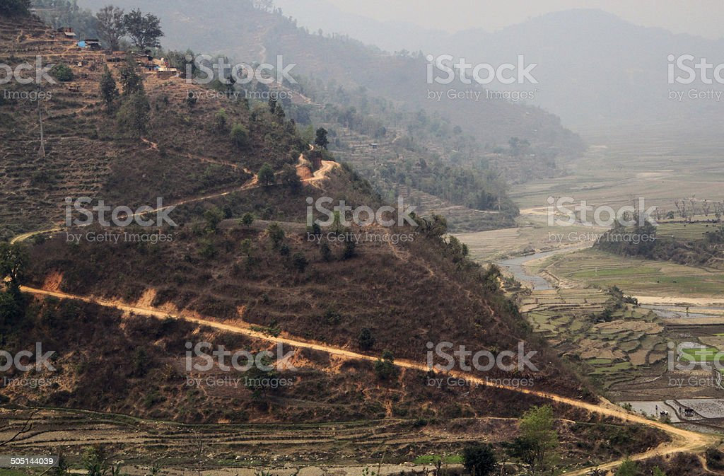 Nepal: Foothills of the Himalayas stock photo