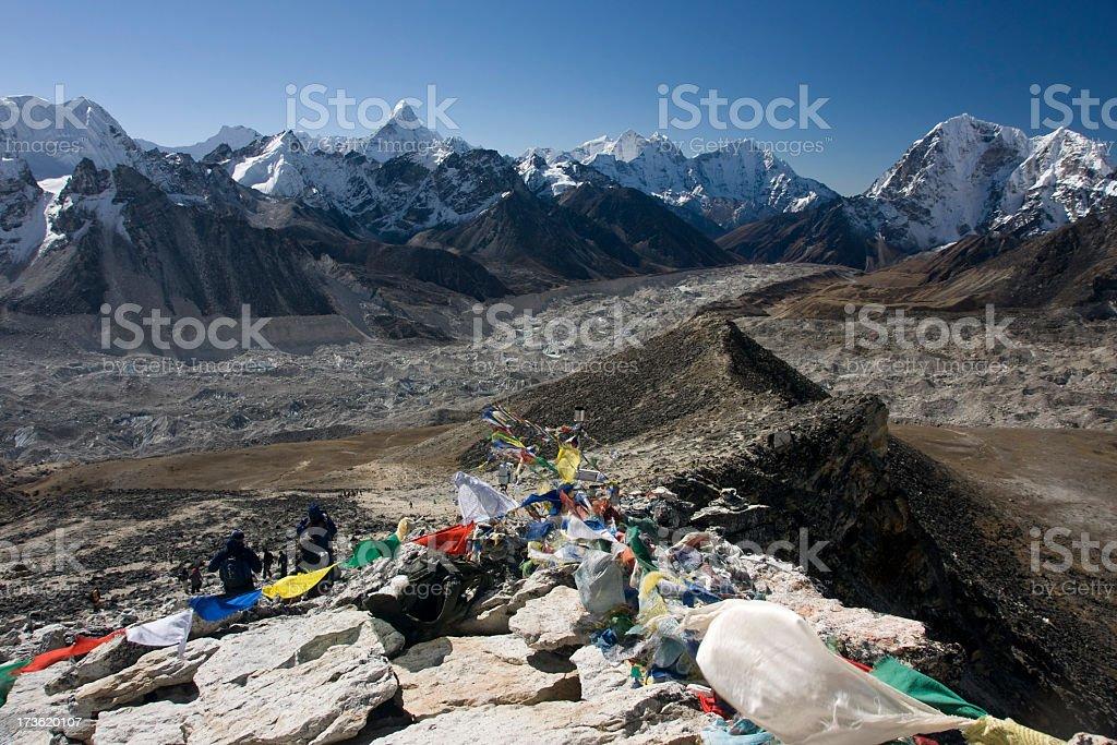Nepal Himalaya - View from Kala Patthar (5560m) royalty-free stock photo