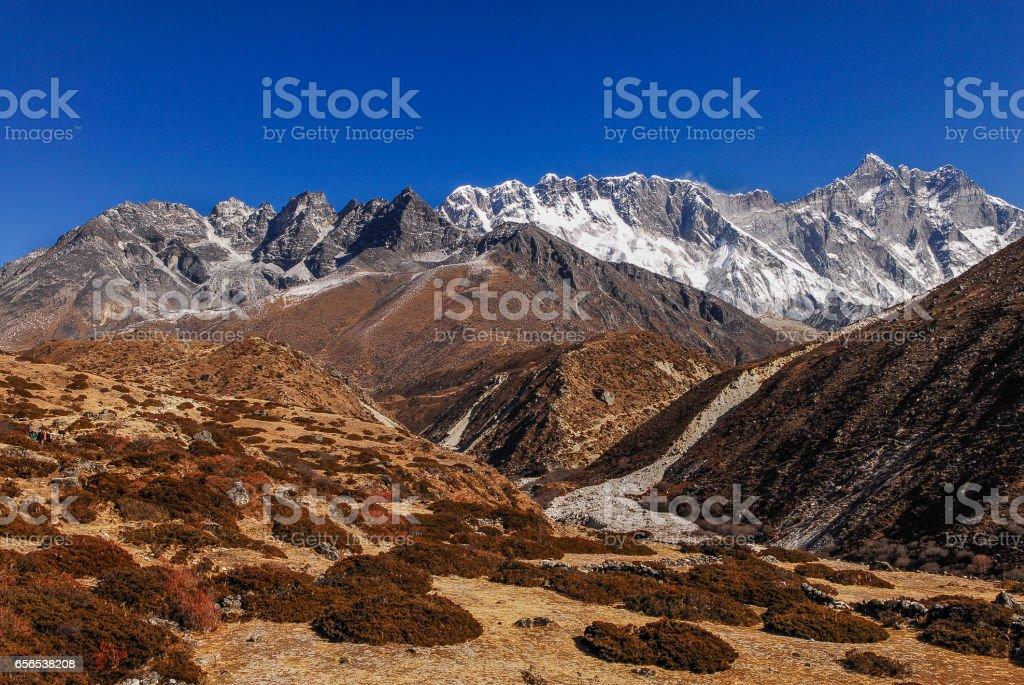 Nepal Himalayas mountains stock photo