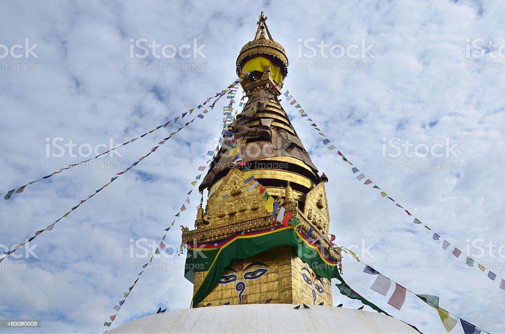Nepal, Kathmandu, ancient Swayambhunath stupa royalty-free stock photo