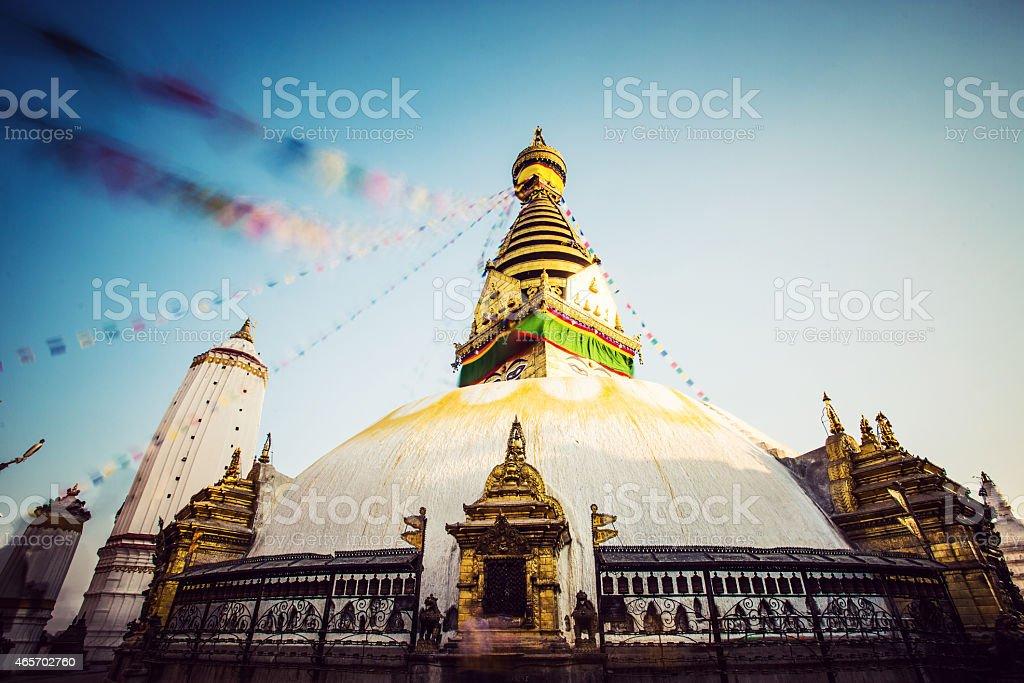 Nepal Kathmandu Bodhnath stupa stock photo