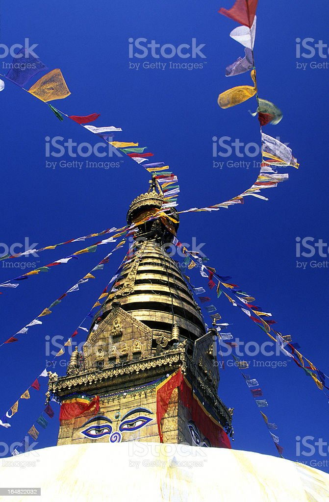 Nepal, Kathmandu, Swayambhunath Temple. royalty-free stock photo