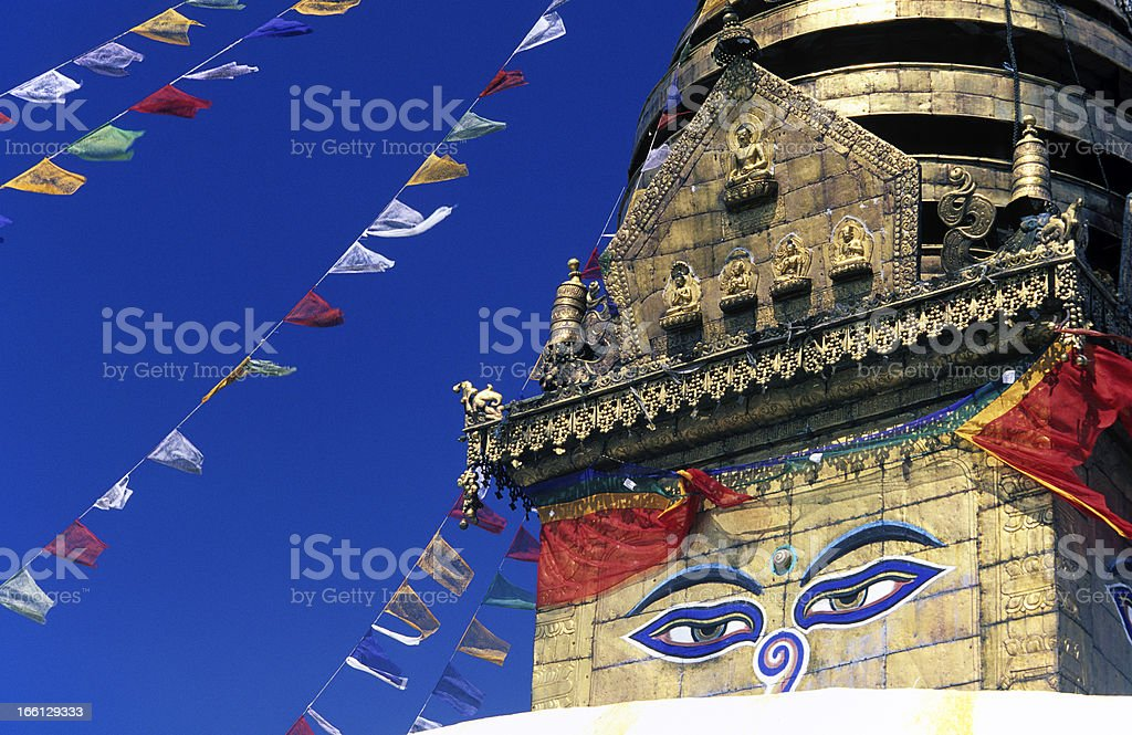 Nepal, Kathmandu, Swayambhunath Temple. stock photo