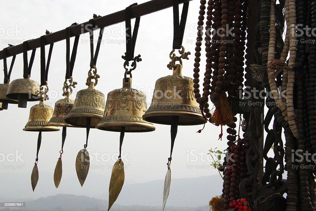 Nepal: Swayambhunath Temple in Kathmandu stock photo