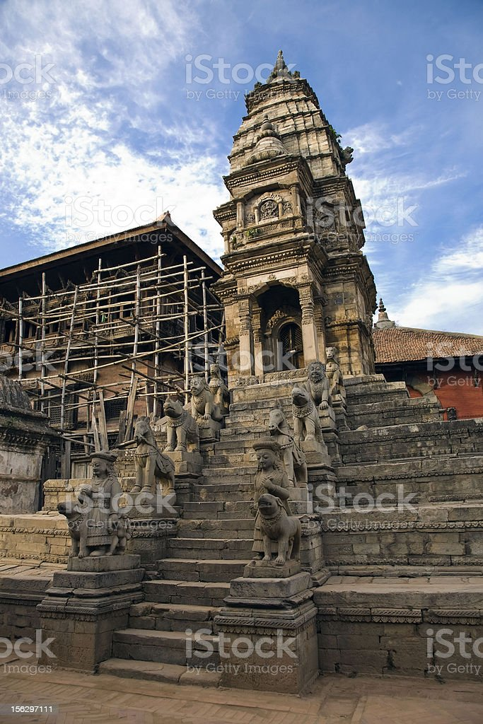 Nepal traditional building royalty-free stock photo