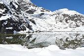 Nepal, trekking in Himalayas, the first Gokio lake