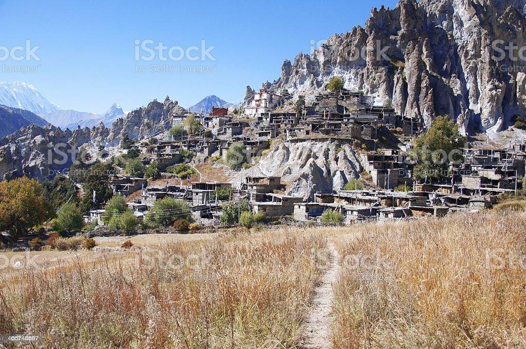 Nepal village royalty-free stock photo