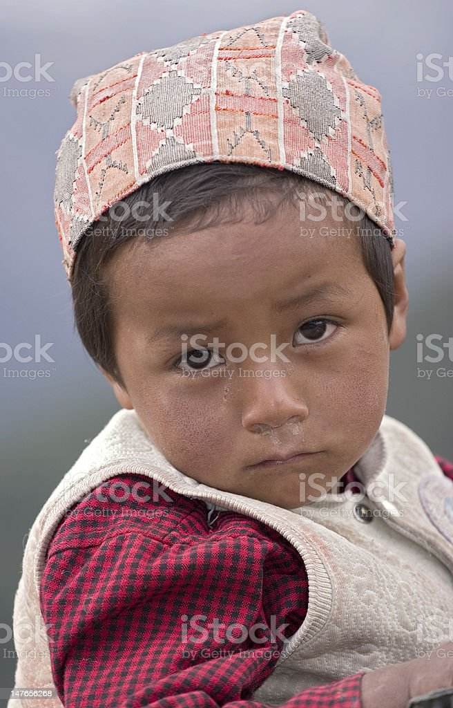 Nepalese Boy stock photo