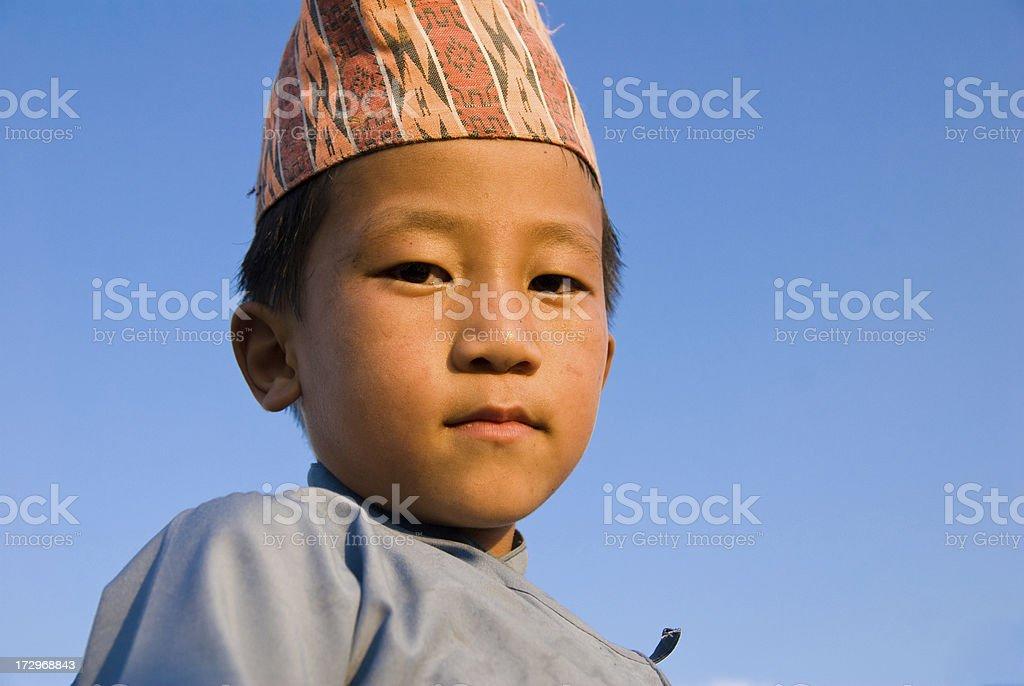 Nepalese Boy royalty-free stock photo