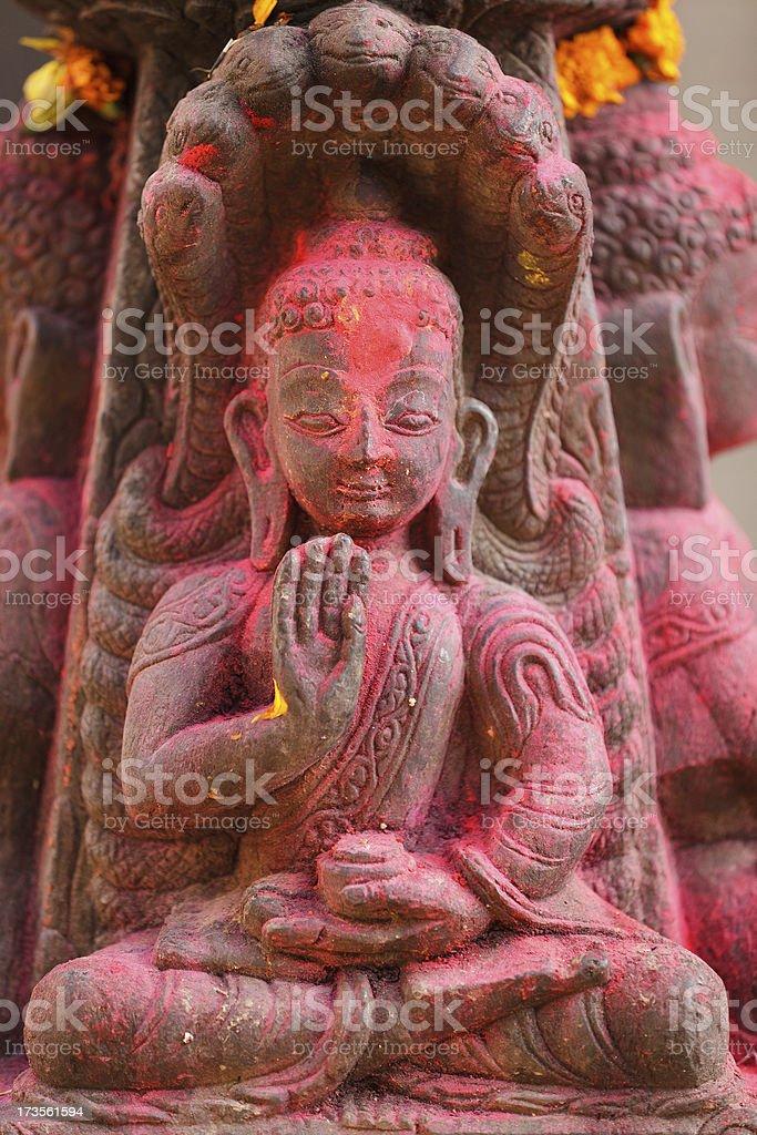 nepalese buddha sculpture royalty-free stock photo
