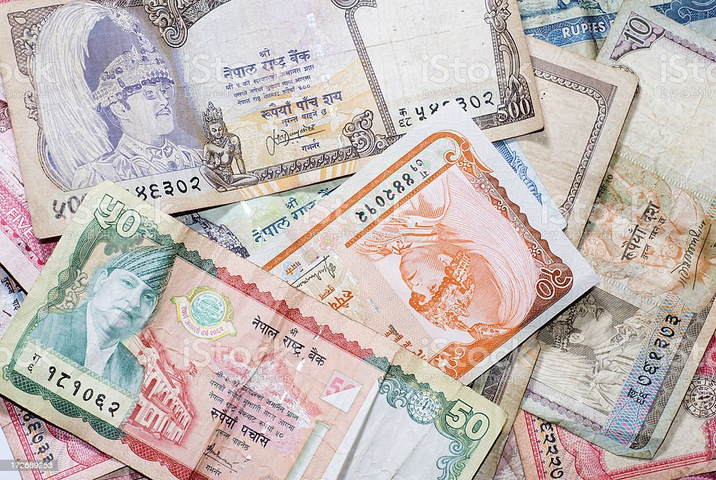 Nepalese Currency stock photo