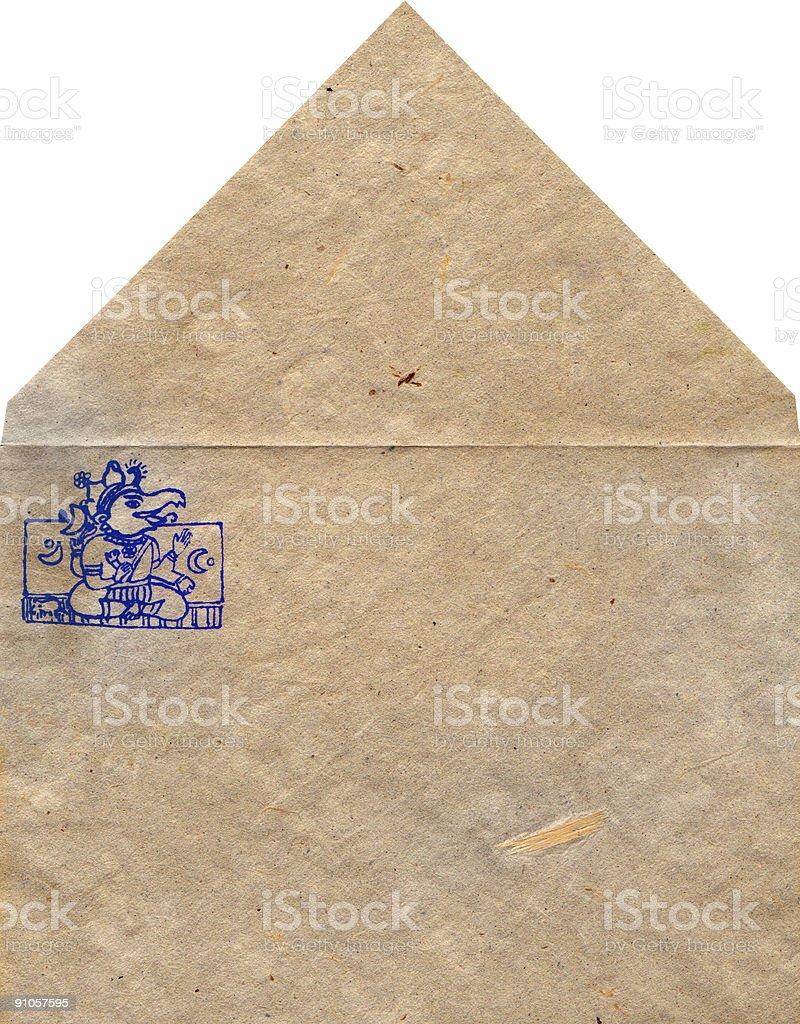 Nepalese envelope royalty-free stock photo