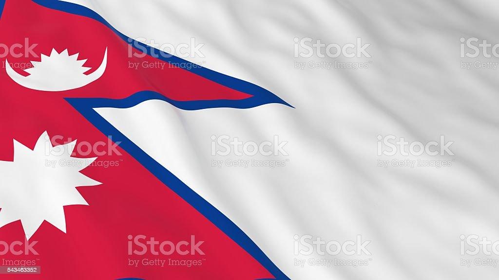 Nepalese Flag HD Background - Flag of Nepal 3D Illustration stock photo