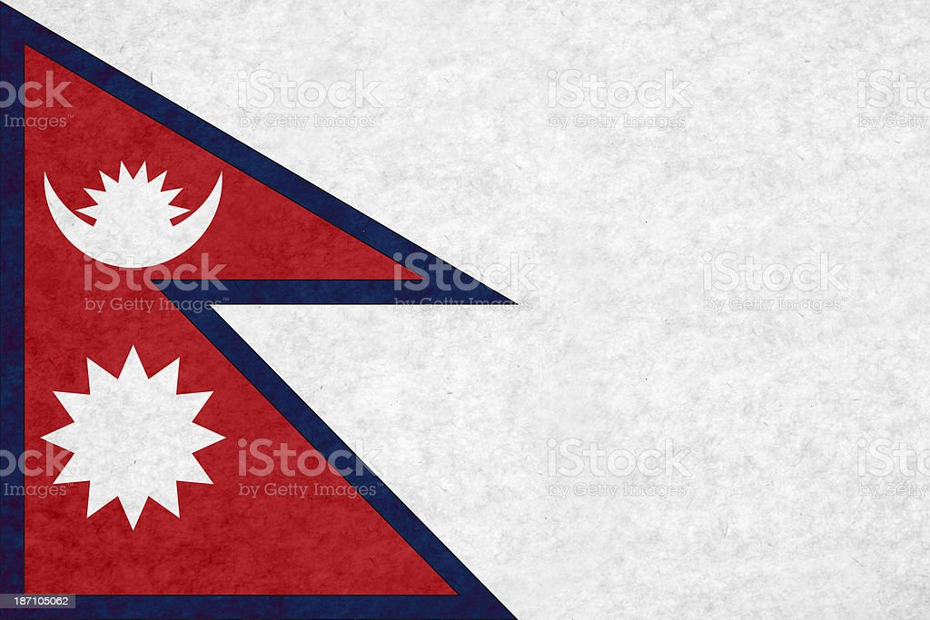 Nepalese flag royalty-free stock photo