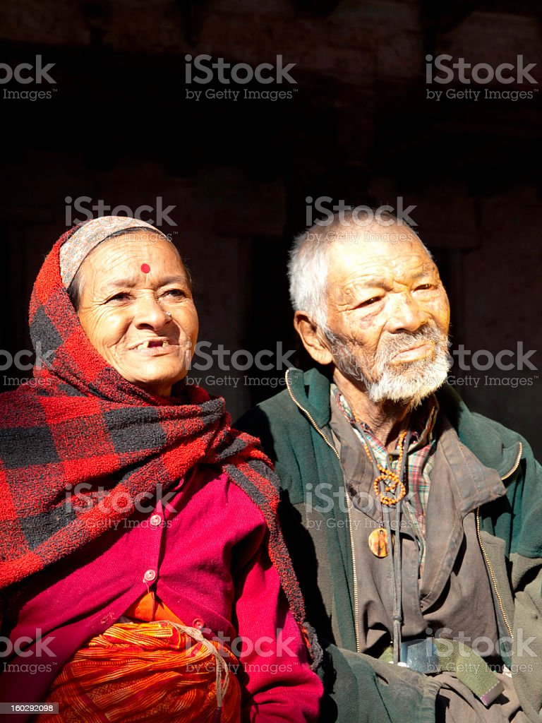 Nepalese man and woman. stock photo