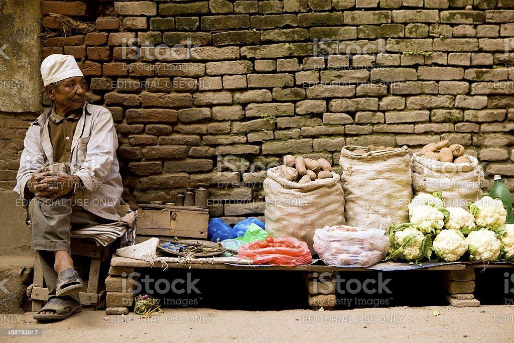 Nepalese Man Market royalty-free stock photo