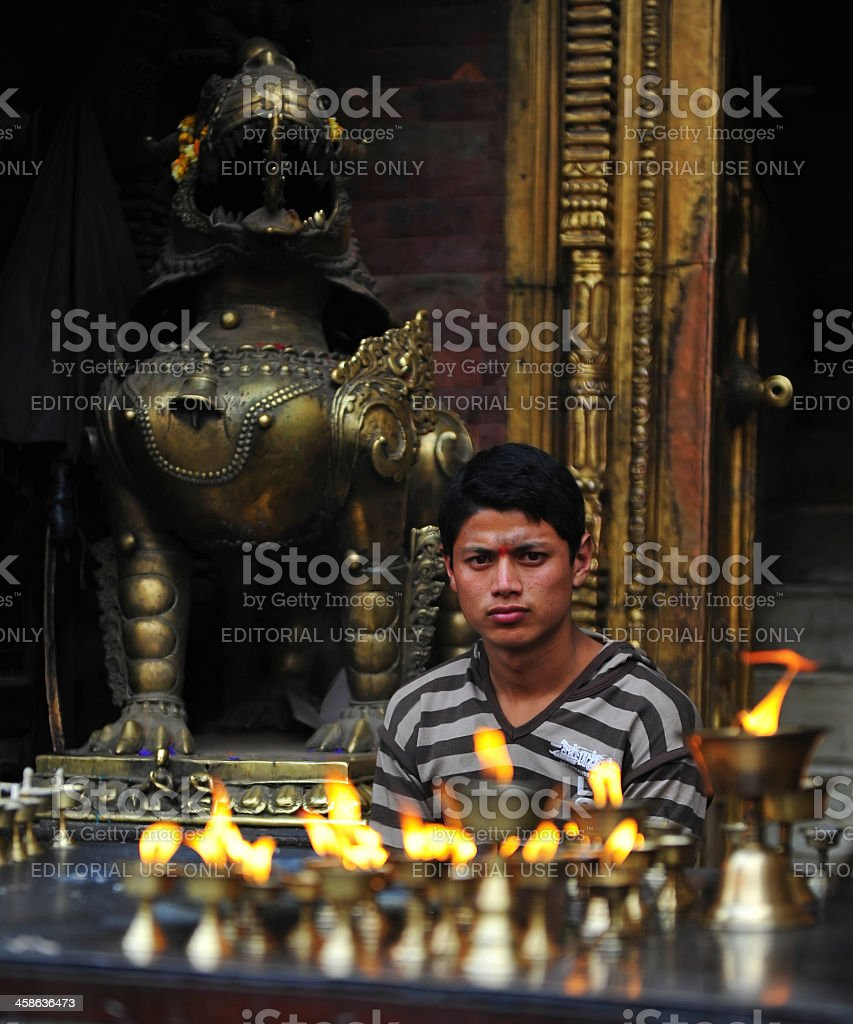 Nepalese man royalty-free stock photo