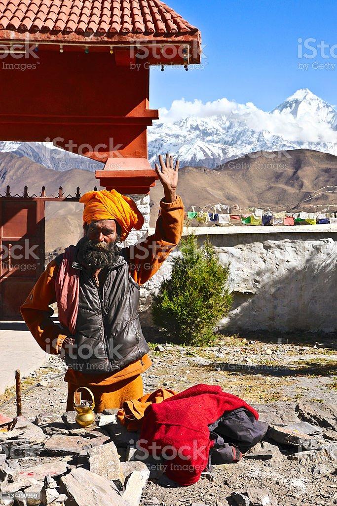 Nepalese sadhu stock photo