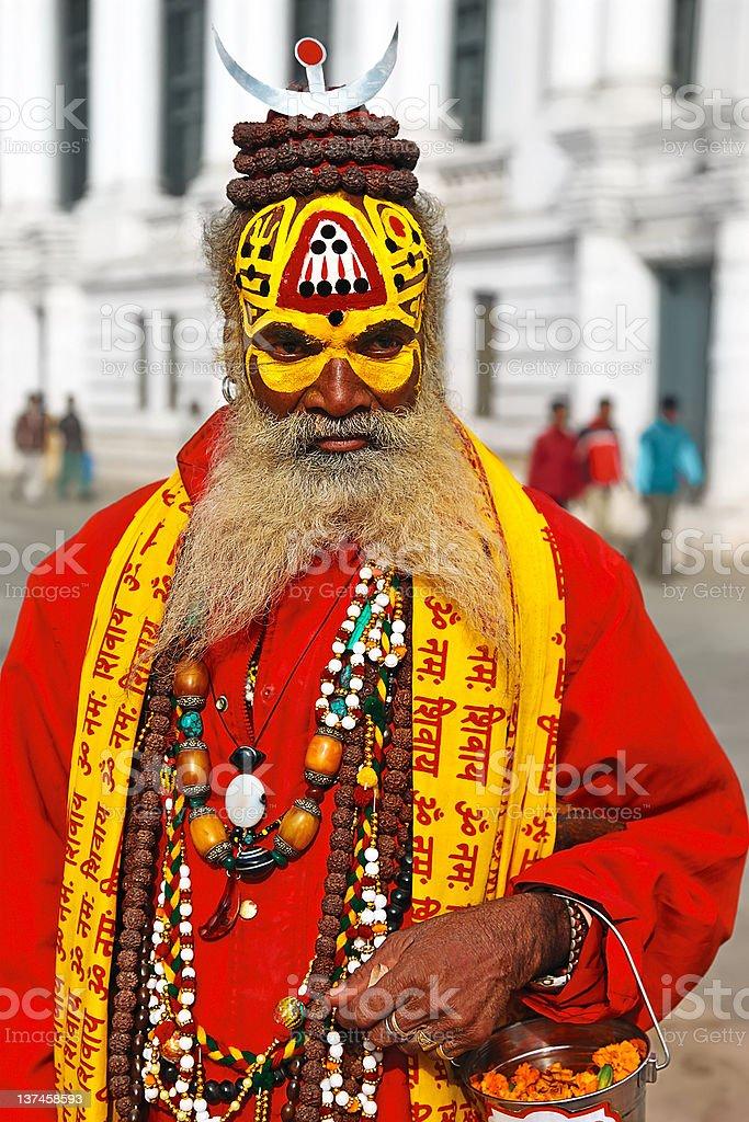 Nepalese sadhu royalty-free stock photo