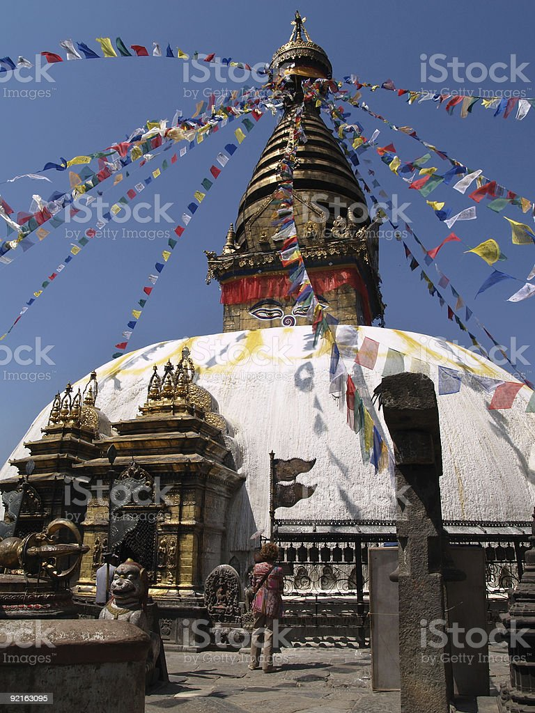 Nepalese stupa royalty-free stock photo