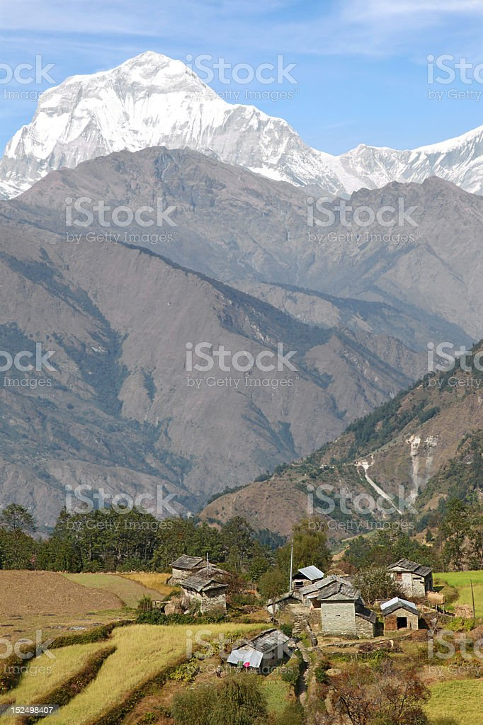 Nepalese village royalty-free stock photo