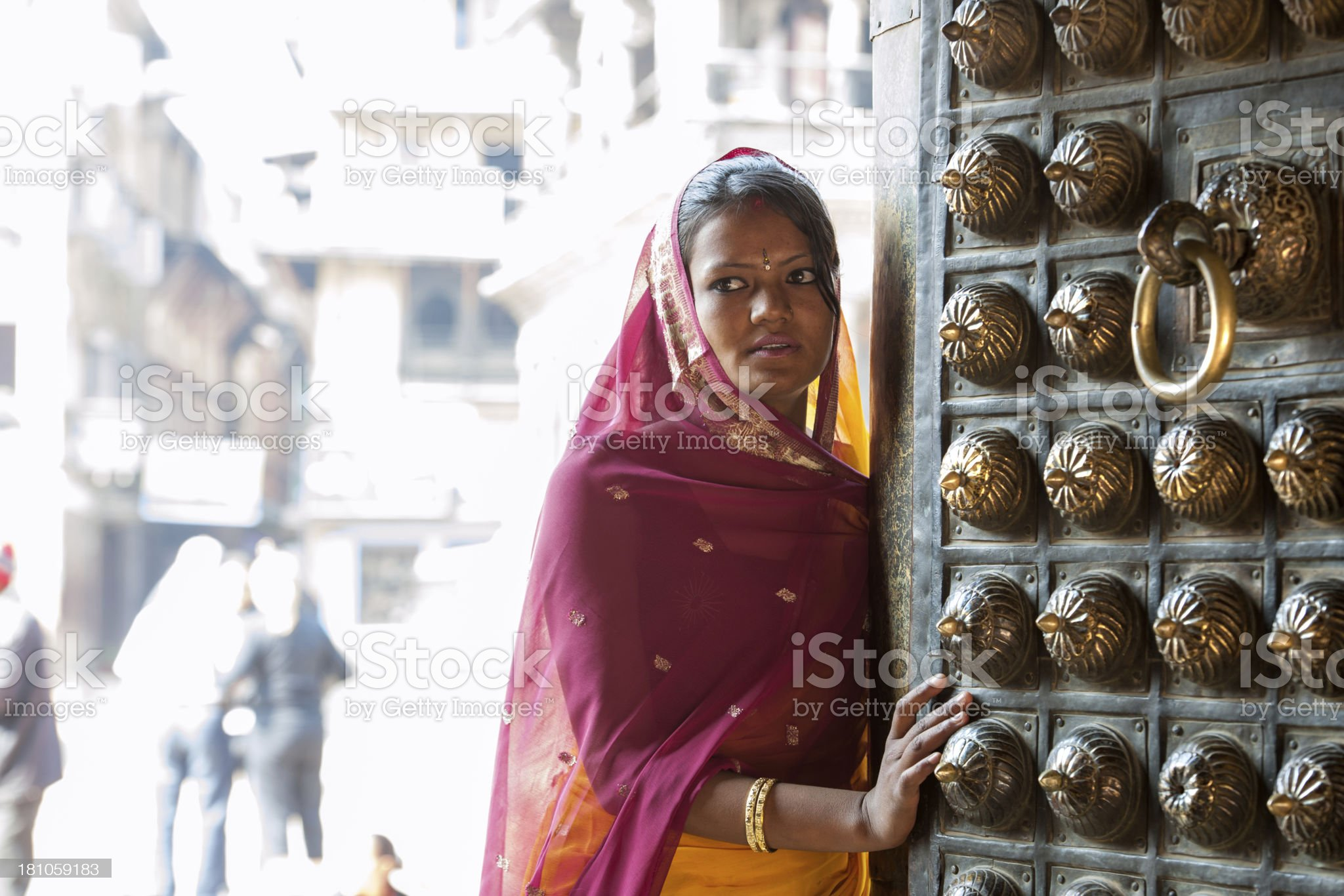 Nepalese woman royalty-free stock photo