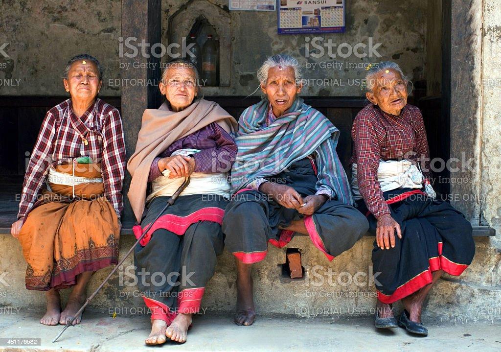 Nepalese women stock photo