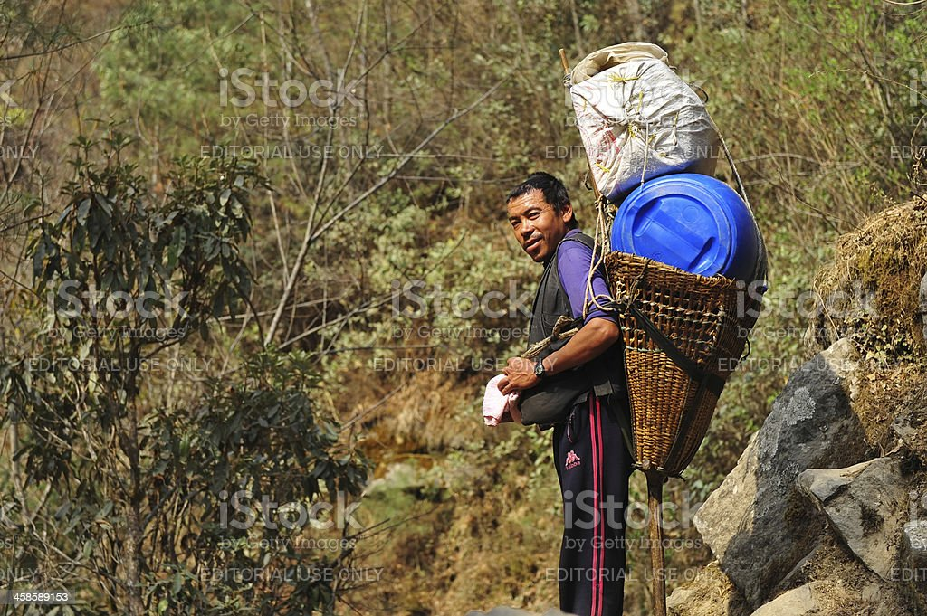 Nepalese worker royalty-free stock photo