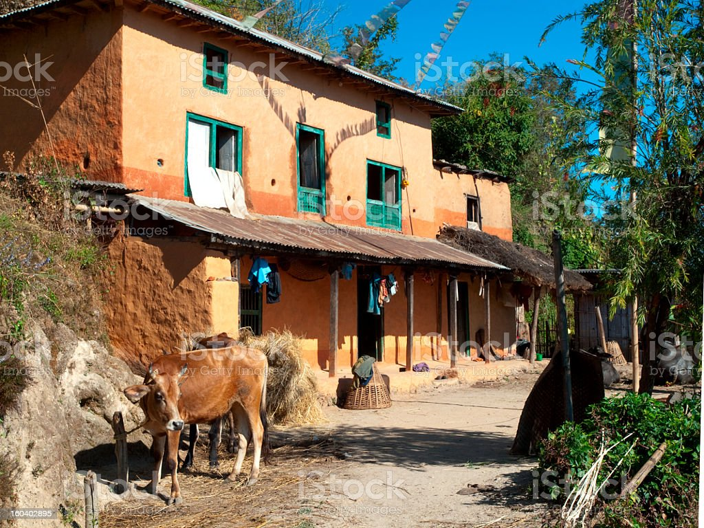 Nepali house. royalty-free stock photo