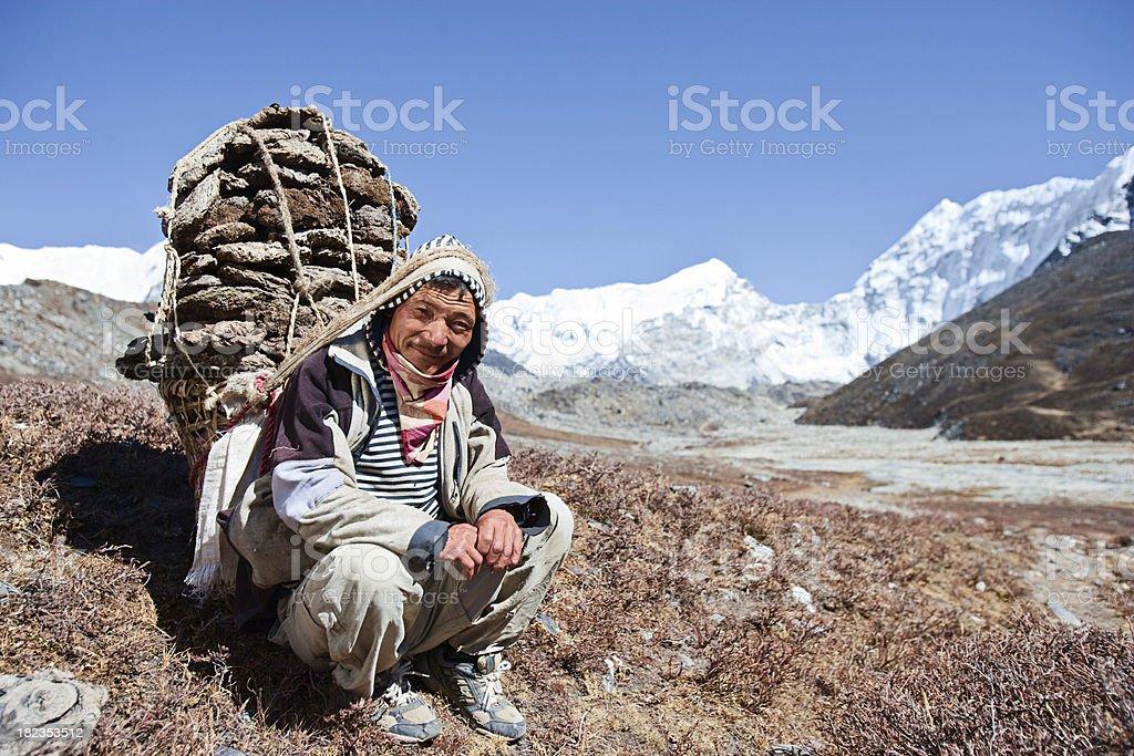 Nepali porter royalty-free stock photo