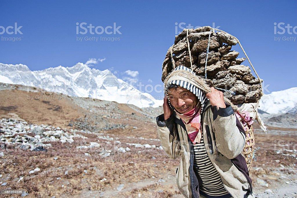 Nepali porter stock photo