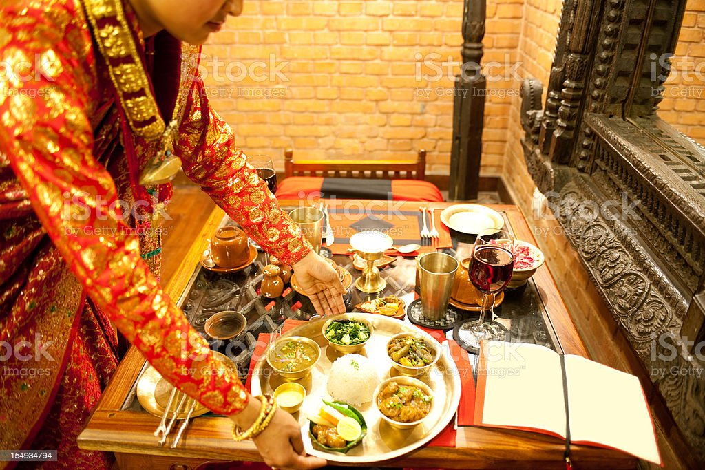 Nepali Restaurant royalty-free stock photo