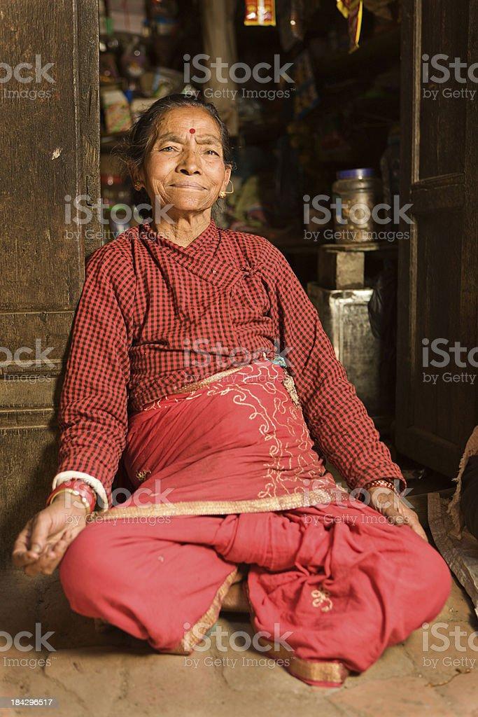 Nepali woman, Kathmandu. royalty-free stock photo