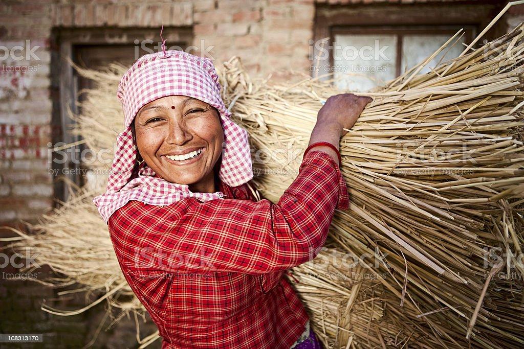 Nepali woman stock photo