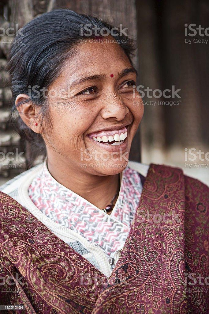 Nepali woman royalty-free stock photo