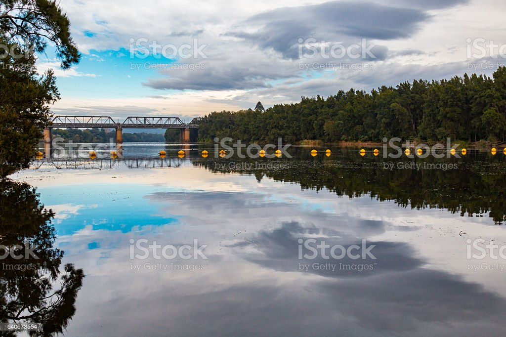 Nepean River Reflection stock photo