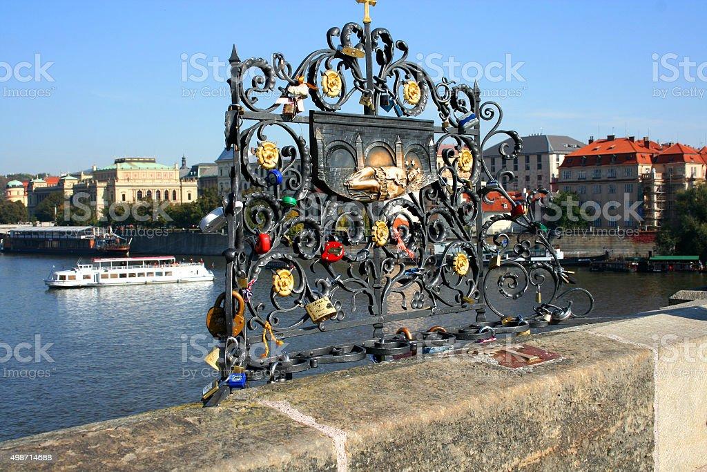 Nepomuk, Charles Bridge, Prague, Czech Republic stock photo