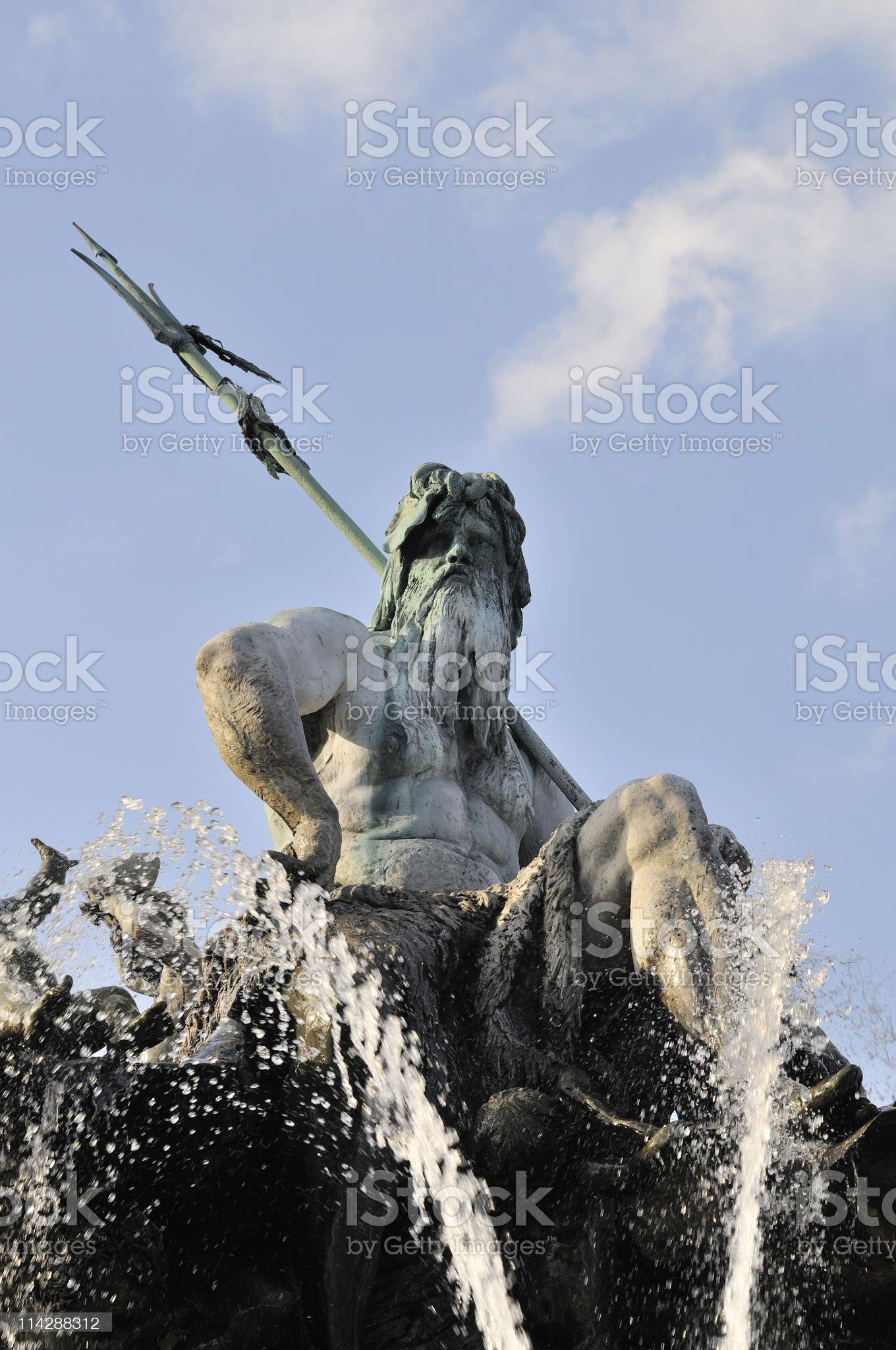 Neptun fountain, Berlin, Germany royalty-free stock photo