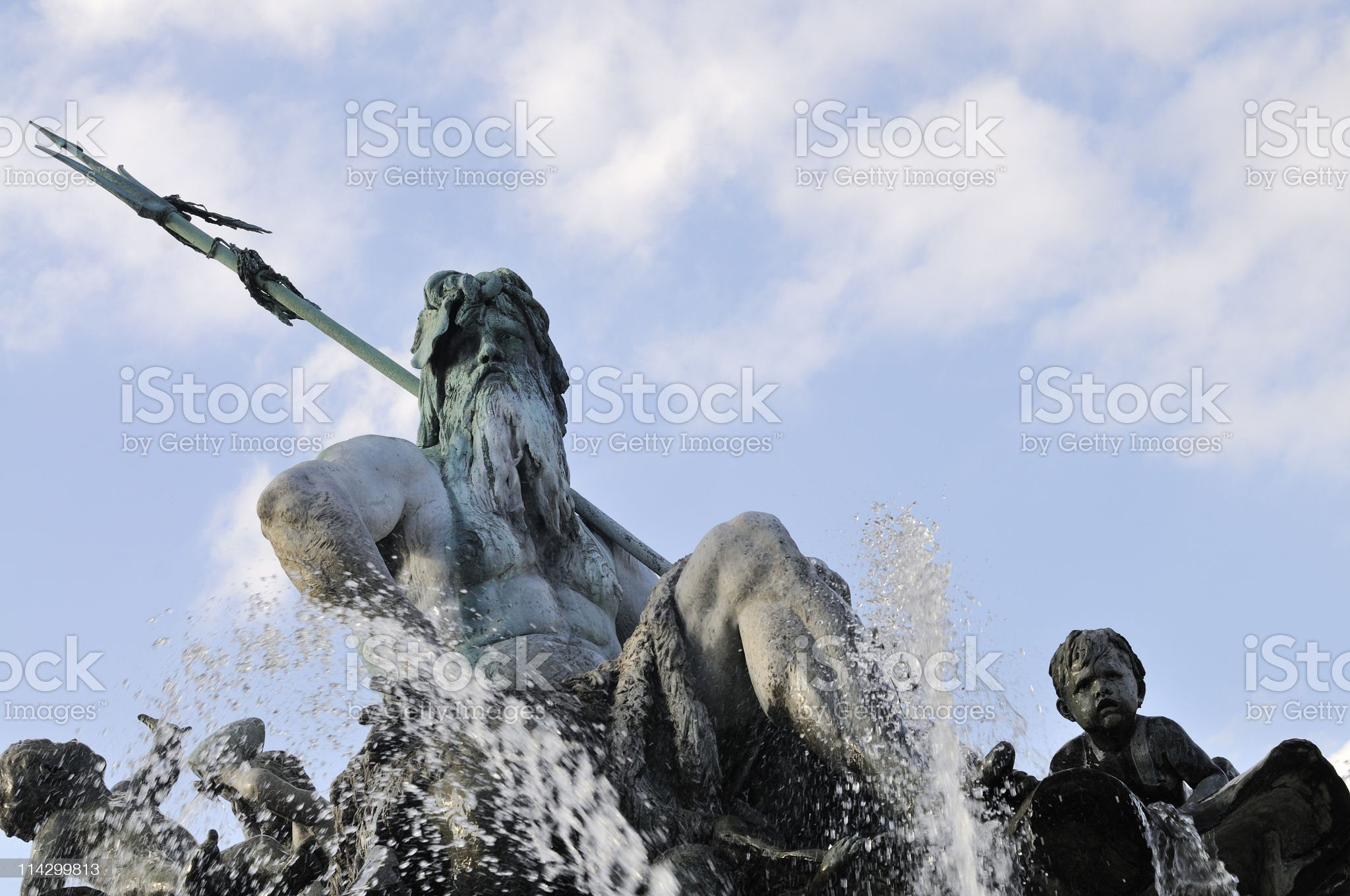 Neptun fountain, Berlin, Germany royalty-free stock photo