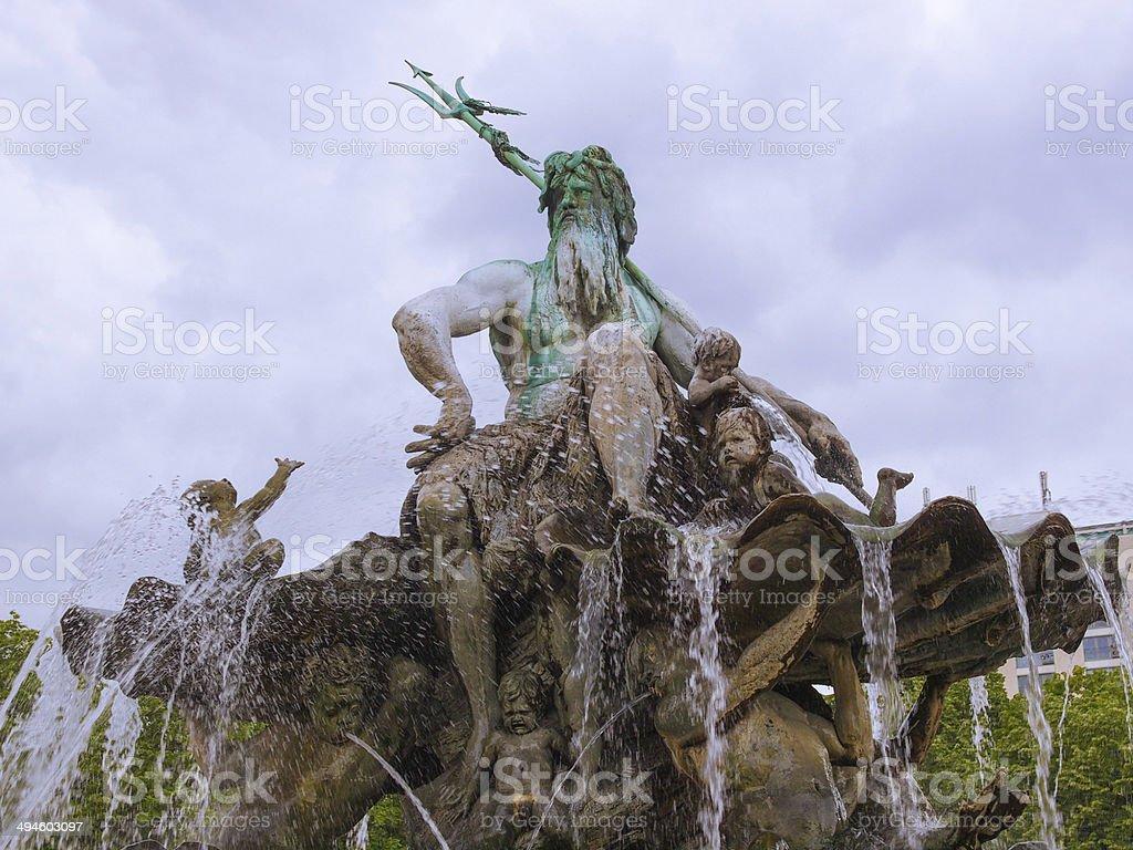 Neptunbrunnen fountain in Berlin stock photo