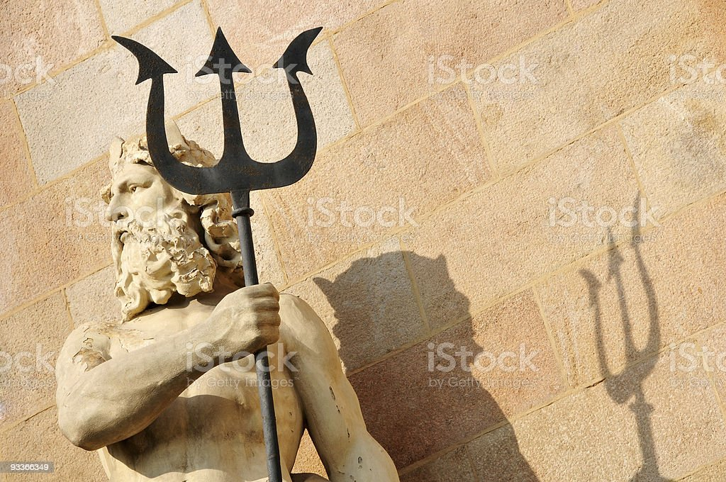 Neptune and trident royalty-free stock photo
