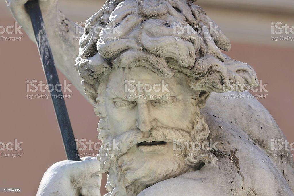 Neptune at Piazza Navona royalty-free stock photo