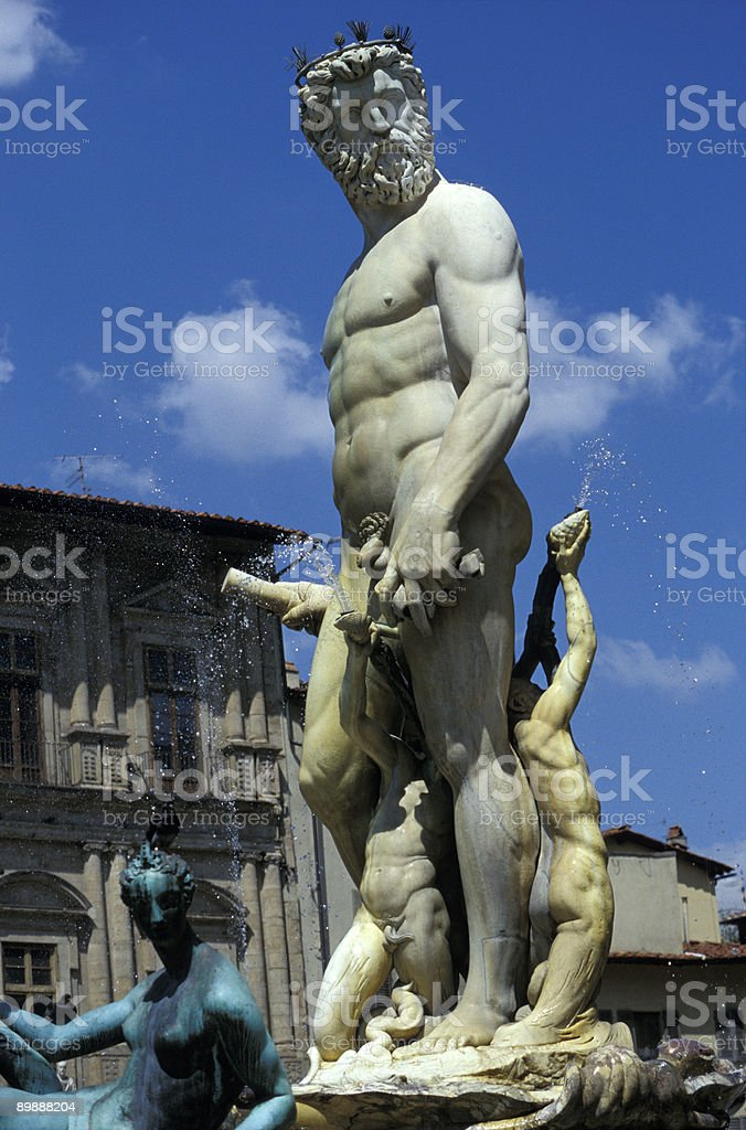 Neptun Foundtain in Florence stock photo